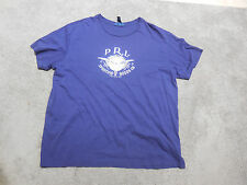 Ralph Lauren Polo Sports Goods Shirt Adult Extra Large Navy Blue White Spell Out