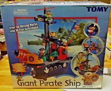 TOMY Giant Pirate Ship 4414 Interactive Play RARE NIB