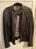 MINT Condition Belstaff Racer Leather Jacket in Black - sz 50EU 40US