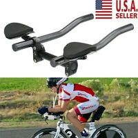 Road Mountain Bicycle Bike Alloy Triathlon Aero Rest Handle Bar Clip On Tri Bars