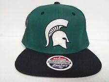 Michigan State Spartans Zephyr Cap Flat Brim Snapback Z11 Static Hat NCAA