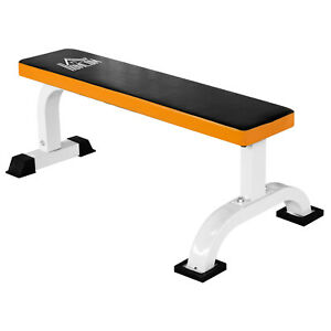 Barbell Flat Bench Press Dumbbell Weight Lifting Fitness Abs Workout Gym
