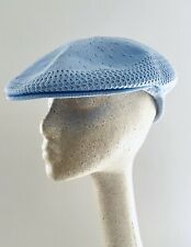 Kangol Classic Baby Blue Mesh Cap Golf Hat Flat Mens Made In Great Britain