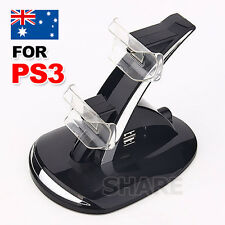 OZ G Blue LED Dual Charger Dock USB Charging Station for Sony PS3 Controller