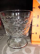 Vintage 6 DESSERT DISHES ~Crystal / Cut Glass  Starburst Pattern ESTATE 1950's