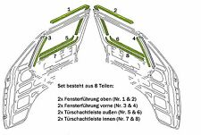 VW T3 Türschachtdichtung und Fensterführung Dichtungssatz 8 tlg. für beide Türen