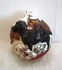 Slavic Treasures Ornament Puppy Ball Glass Poland Nib (S5)