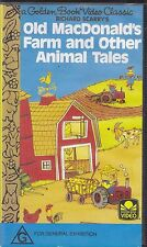 PAL VHS VIDEO TAPE : GOLDEN BOOK,RICHARD SCARRY'S OLD MACDONALD 'S FARM & OTHER