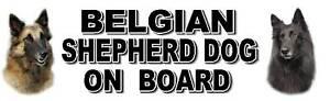 BELGIAN SHEPHERD DOG ON BOARD Car Sticker by Starprint