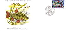 WORLD WILDLIFE FUND FIRST DAY COVER - THE ROBIN - FISH - 1976 ISSUE NO 13