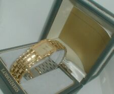 vintage AUTHENTIC LONGINES MENS GOLD WATCH IN BOX never worn
