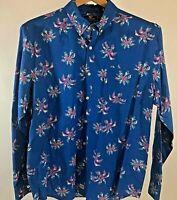 Vineyard Vines Murray Men's XL Slim Fit S/S Blue floral Button Down Shirt