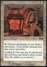 4x MTG: Rune of Protection: Red - White Common - Urza's Saga - USG - Magic Card