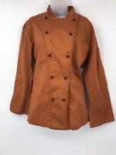 Dickies Chef Coat Unisex Uniform Culinary Work Jacket Orange 38 Long Sleeve