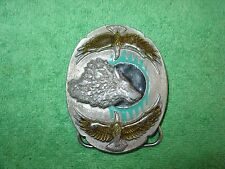 VINTAGE SISKIYOU No.F-9 BELT BUCKLE 1995 MADE IN USA''BROTHERS OF THE WIND''