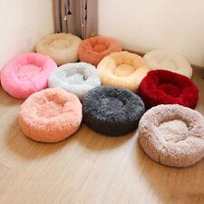 Dog Donut Bed Pet Cat Calming Nest Mat Soft Fluffy Warm Cushion Plush Kennel