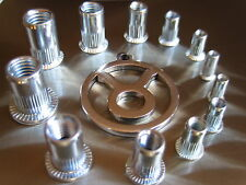 Blindnietmuttern  Stahl verzinkt  Einnietmutter M3-M4-M5-M6-M8-M10-M12 0,5-3,0