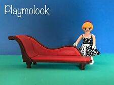 GRAN SOFÁ CHAISE LONGUE MINIATURE MANSION VICTORIANO PLAYMOBIL CUSTOM