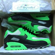 (USED) NIKE AIR MAX 90 PREMIUM Sz US7 UK6 Poison Green Snake 333888-302 2013