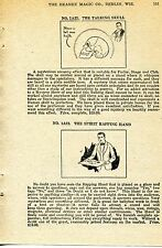 1924 small Print Ad of The Mysterious Talking Skull & Spirit Rapping Hand