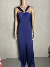 GUESS - edles  enges Kleid Maxikleid in blau lila   - NEU Gr 36 S 43d