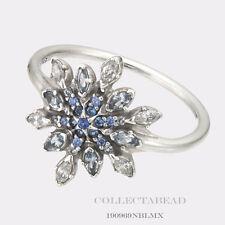 Authentic Pandora Silver Crystallized Snowflake CZ Ring Size (7) 54 190969NBLMX