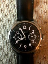 Genuine Mont Blanc Summit 2 Smart Watch - Black Calf Leather - 42mm - Boxed