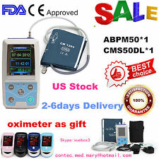 USA, ABPM50 24h Arm NIBP care Ambulatory Blood Pressure Monitor+pulse Oximeter