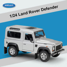Welly 1:24 Land Rover Defender Vehicles Toys Silver Diecast Model Car For Gift