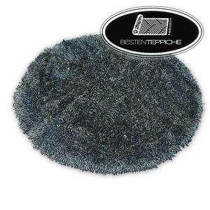 """Amazing Soft And Thick Circle Rugs Black """" Love Shaggy Polyester 2 3/8in"""