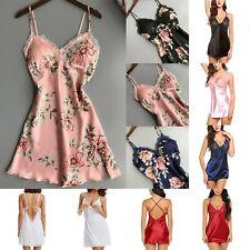 Chic Women Sexy Lingerie Lace Robe Dress Babydoll Nightgown Sleepwear Underwear