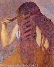 The Hair by Henri Edmund Cross 8x10 Print Woman Combing Pointillism Art 0071