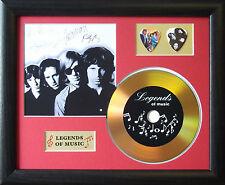 The Doors Preprinted Autograph, Gold Disc & Plectrum Presentation