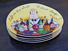 """Tracy Flickinger """"Life Is Too Short"""" Mud Pie Appetizer Bread Plates - Set of 4"""
