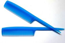 Royal Frost Blue Barbers Plastic Pin Tail Hair Comb Rat Tail Comb UK Quality X2