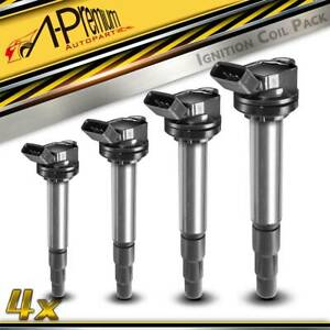 4x Ignition Coils for Toyota Corolla ZRE152 ZRE182R Lexus 2007-2014 2ZR-FE 1.8L