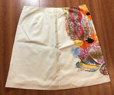 Trina Turk Classic Colorful Fish Mini Skirt Size 8 Los Angeles