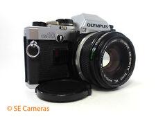 OLYMPUS OM10 35MM SLR CAMERA + OLYMPUS OM ZUIKO 50MM F1.8 LENS & MANUAL ADAPTER