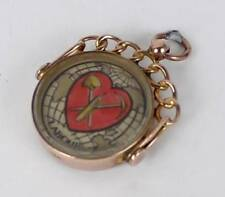 No Stone Rose Gold Pendant/Locket Vintage Fine Jewellery