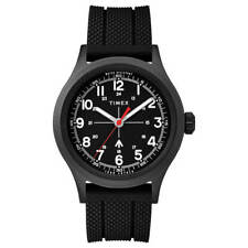 Reloj Timex Hombre Reloj Todd Snyder militar Dial Negro Correa de caucho TW2T82400JR
