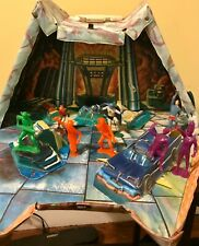 1966 Ideal Batman Justice League Playset Batcave & 8 Figs + Gift Poster **RARE**