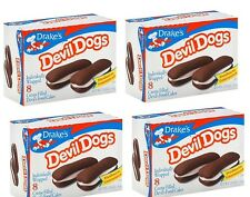 DRAKES CAKES Boxs - 4 box lot of Devil Dogs