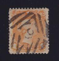 "Canada Sc #23 (1868-76) 1c Large Queen Used w/""Kingston 9"" Fancy Cancel"