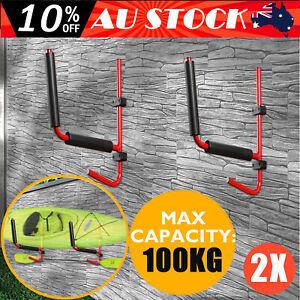 2Pcs Kayak Holder Surfboard Rack Storage Carrier Canoe Paddle Wall Bracket 100KG