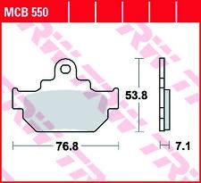Rear Brake Pads Saab 9-5 3.0 V6t Estate YS3E 97-13 200HP 121.8x43.7x16.7mm