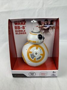 NIB Disney Parks Star Wars: The Last Jedi Star Wars BB-8 Blower Machine Toy