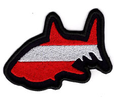 Dive Shark Patch Swimming with Sharks Dive Merit  Iron/Sew on Badge