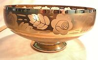 "GOLD GILDED Glass  Absolutely Beautiful  Fruit Bowl 9"" across 5"" tall Vintage"