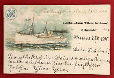 Litho AK Norddeutscher Lloyd Bremen 1898 Dampfer Kaiser Wilhelm Grosse ( 67030