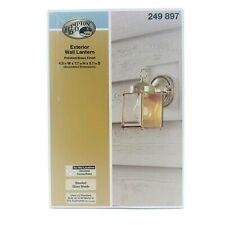 Hampton Bay Exterior Coach Lantern Polished Brass #249897 Beveled Glass Shade